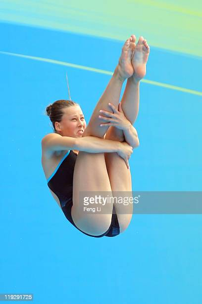 Inge Jansen of the Netherlands competes in the Women's 1m Springboard preliminary round during Day Two of the 14th FINA World Championships at the...