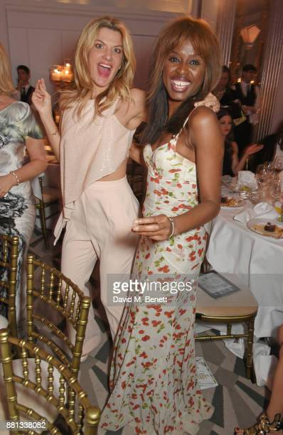 Inge Theron and June Sarpong attend the Lady Garden Gala in aid of Silent No More Gynaecological Cancer Fund and Cancer Research UK at Claridge's...