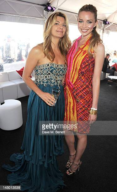 Inge Theron and Noelle Reno attend as Icon launches 'The Butler' during the 65th Cannes Film Festival at Baoli Beach on May 22 2012 in Cannes France