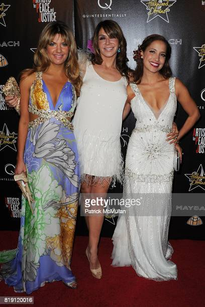 Inge Theron, Giannina Facio and Daya Fernandez attend 3rd Annual Pre-Oscar Hollywood DOMINO Gala Benefiting Artists for Peace and Justice at BAR 210...