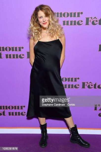 Inge Van Bruystegem attends 'L'amour Est Une Fete' Paris Premiere at Cinema Max Linder on September 17 2018 in Paris France