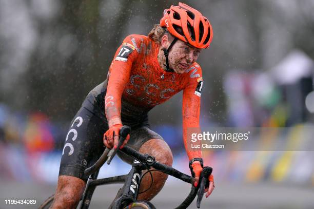 Inge Van Der Heijden of The Netherlands and Team CCC - Liv / Mud / during the 11th Namur World Cup 2019, Women Elite / @UCI_CX / #TelenetUCICXWC / on...