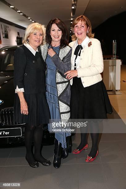 Inge WredeLanz Iris Berben and Princess Ursula Uschi von Bayern during the presentation of the new BMW 7 Series on October 22 2015 in Munich Germany