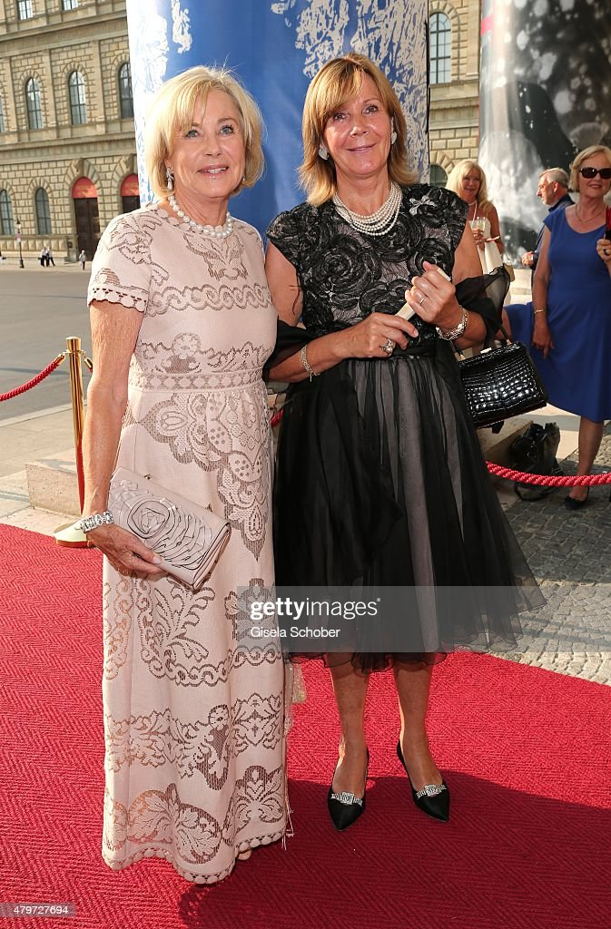 Inge Wrede-Lanz, Princess Uschi, Ursula of Bavaria during the premiere of the opera 'Arabella' on July 6, 2015 in Munich, Germany.