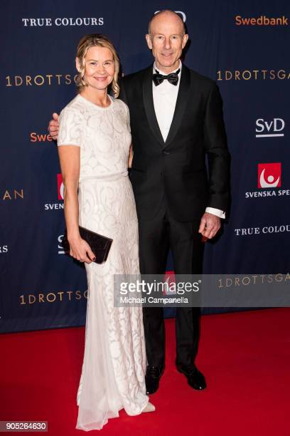 Ingemar Stenmark and wife Tarja Stenmark walk the red carpet when arriving at Idrottsgalan the annual Swedish sports awards gala held at the Ericsson...