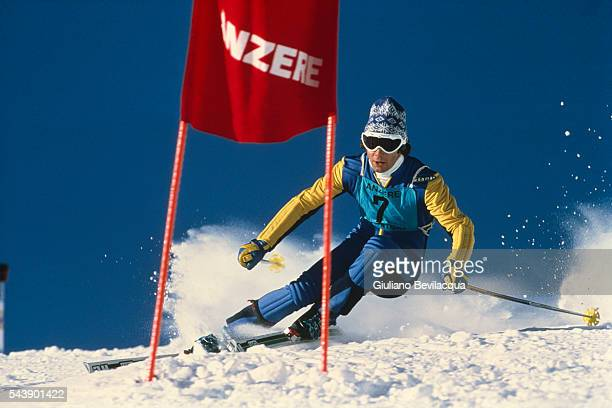 Ingemar Stenmark from Sweden during a Giant Slalom