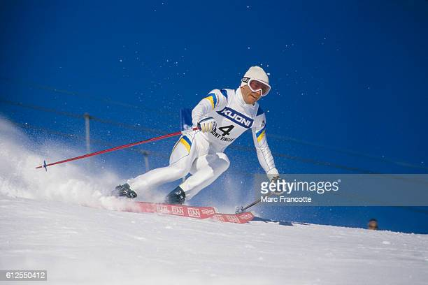 Ingemar Stenmark from Sweden during a men's Giant Slalom | Location Puy Saint Vincent France