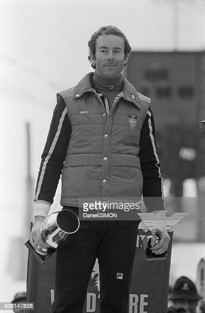 Ingemar Stenmark lors du criterium international de la première neige à Val d'Isère France du 2 au 8 décembre 1979