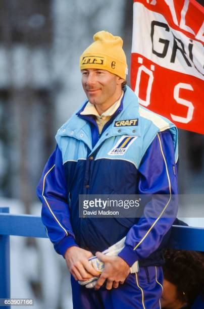 Ingemar Stenmark of Sweden appears at the 1989 FIS Alpine World Ski Championships during February 1989 in Vail Colorado
