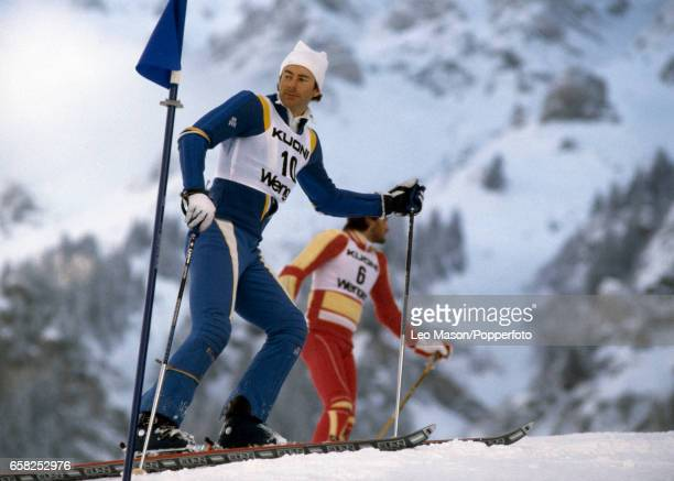 Ingemar Stenmark of Sweden at a Ski Meet in Wengen Switzerland circa 1982