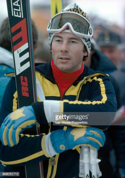 Ingemar Stenmark of Sweden during a skiing event in Kitzbuhel Austria circa 1979