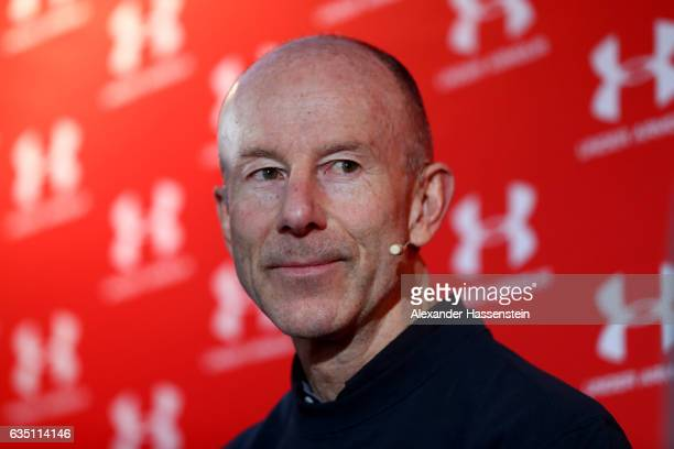 Ingemar Stenmark of Sweden looks on during a media talk at Hotel Waldhaus am See on February 13 2017 in St Moritz Switzerland