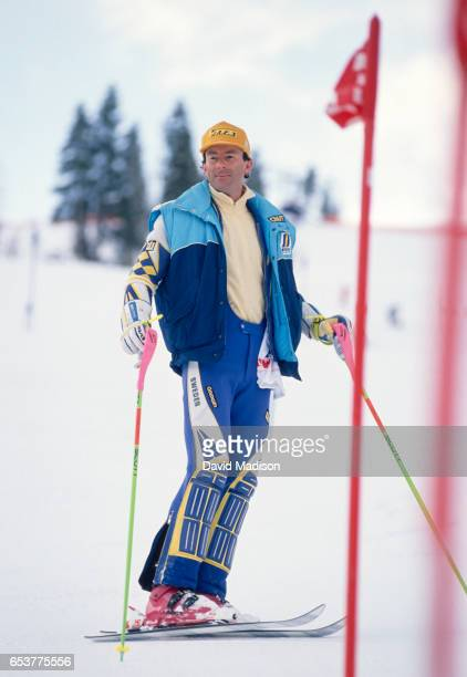 Ingemar Stenmark of Sweden previews the Slalom course during the FIS Alpine World Ski Championships on February 12 1989 in Vail Colorado