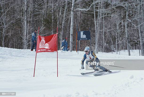 Ingemar Stenmark of Sweden skiing in the Men's Slalom event of the Alpine Skiing World Cup on 4 March 1979 in Lake Placid New York United States