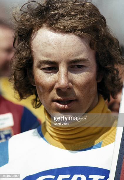 Ingemar Stenmark posing for a photo on March 26 1976 in Hunter Mountain New York