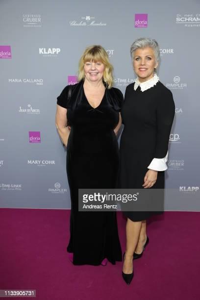 Inger Nilsson and Birgit Schrowange attend the Gloria Deutscher Kosmetikpreis at Hilton Hotel on March 30 2019 in Duesseldorf Germany