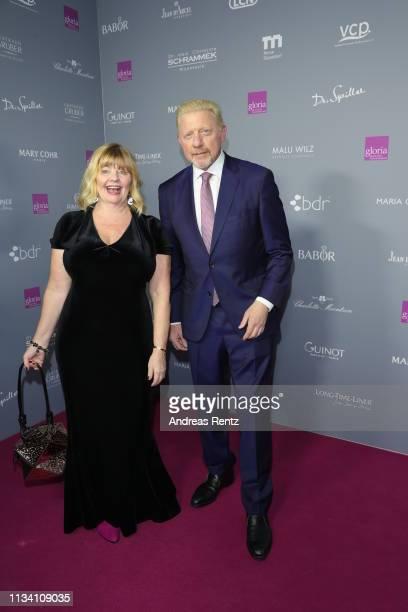 Inger Nilsson and Boris Becker attend the Gloria Deutscher Kosmetikpreis at Hilton Hotel on March 30 2019 in Duesseldorf Germany