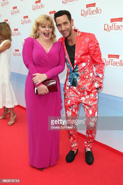 Inger Nilsson and Marcel Remus during the Raffaello Summer Day 2018 to celebrate the 28th anniversary of Raffaello on June 21 2018 in Berlin Germany