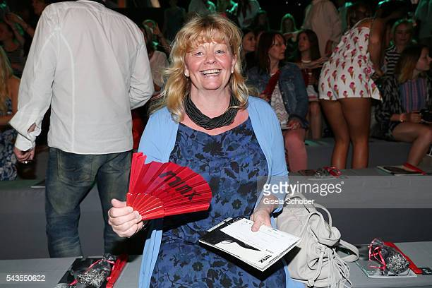 Inger Nilsson attends the Minx by Eva Lutz show during the MercedesBenz Fashion Week Berlin Spring/Summer 2017 at Erika Hess Eisstadion on June 29...