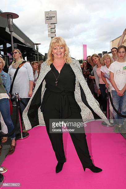 Inger Nilsson during the late night shopping at Designer Outlet Soltau on August 5 2016 in Soltau Germany