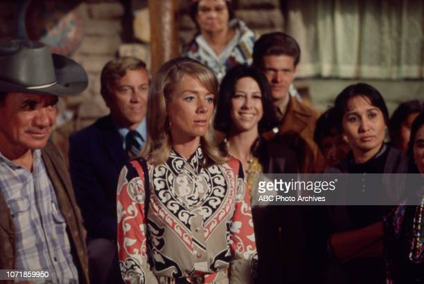 Inger Stevens and cast members appearing in the Walt Disney Television via Getty Images's tv movie 'Run Simon Run'