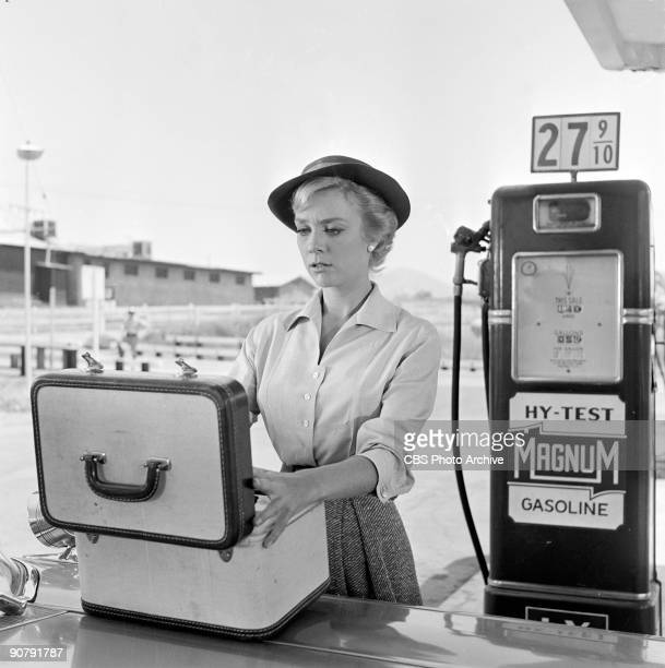 ZONE Inger Stevens as Nan Adams in The Hitchhiker Season 1 episode 16 of CBS' science fiction television series 'The Twilight Zone' July 23 1959
