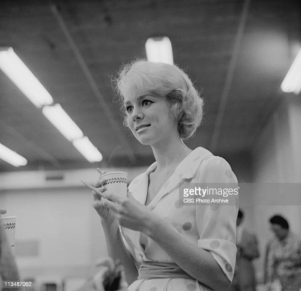 Inger Stevens rehearsing for Diary of a Nurse on PLAYHOUSE 90 Image dated April 21 1959