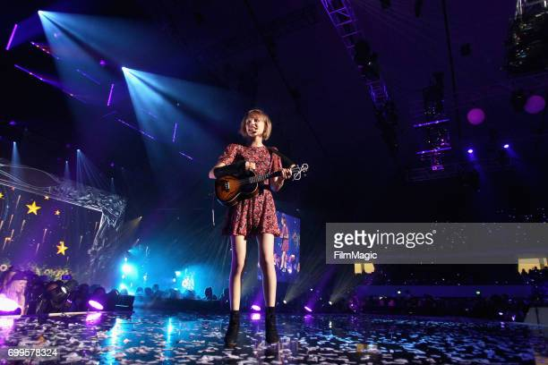 S inger/songwriter Grace VanderWaal performs at #YouTubeOnstage at VidCon 2017 at Anaheim Convention Center on June 21 2017 in Anaheim California