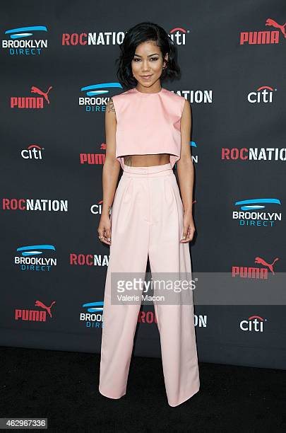 ingersongwriter Jhene Aiko arrives at the Roc Nation PreGRAMMY Brunch on February 7 2015 in Beverly Hills California