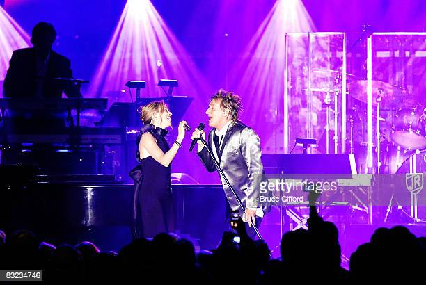 Inger/songwriters Sheryl Crow and Rod Stewart perform at the 13th annual Andre Agassi Charitable Foundation's Grand Slam for Children benefit concert...