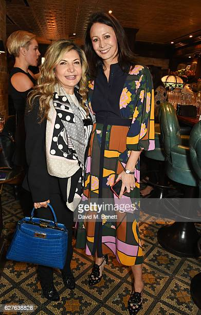 Ingie Chalhoub and Caroline Rush attend The Fashion Awards in partnership with Swarovski nominees' lunch hosted by the British Fashion Council with...