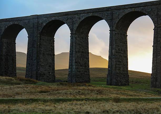 Ingleborough through the arches of Ribblehead Viad