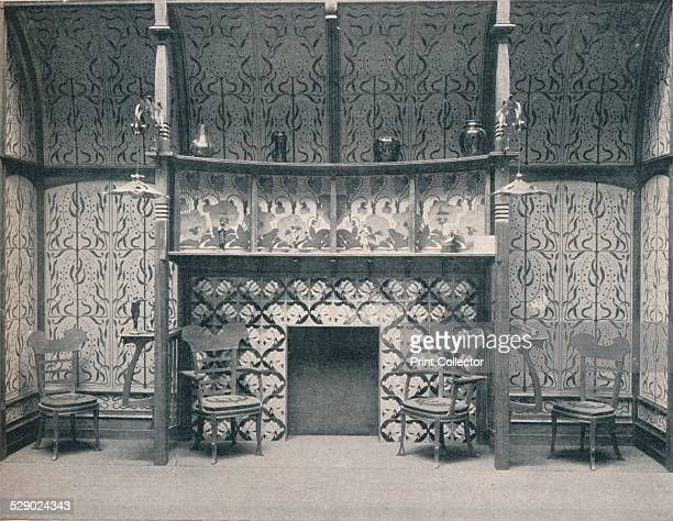 'IngleNook designed by G Serruier 1898 An IngleNook fireplace designed by influential Art Nouveau architect and designer Gustave SerrurierBovy From...