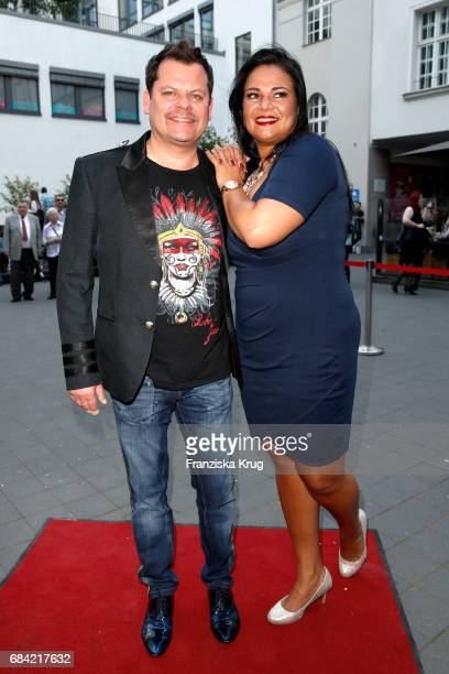 Ingo Appelt and his wife Sonja Appelt attend the 'The Addams Family' musical premiere at Admiralspalast on May 17 2017 in Berlin Germany