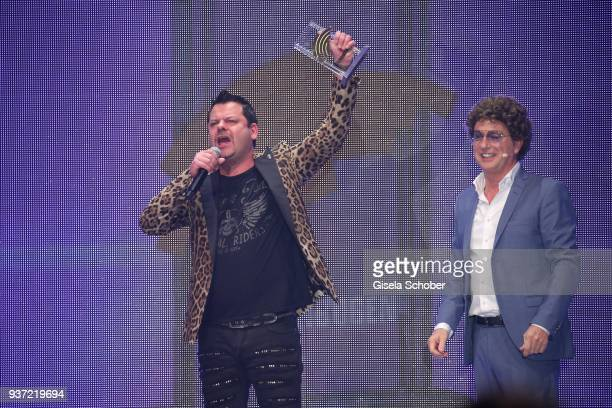 Ingo Appelt with award and Atze Schroeder during the Radio Regenbogen Award 2018 at Europapark Rust on March 23 2018 in Rust Germany