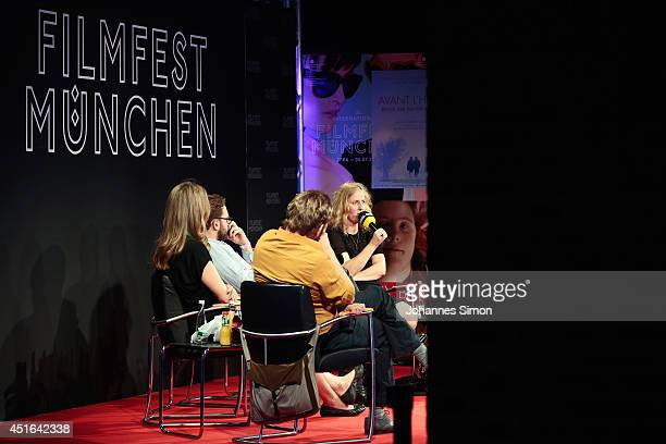 Ingo Haeb Vanessa Jopp Christoph Groener Sylke Enders and Christian Bach attend the 'Neues Deutsches Kino' Panel as part of Filmfest Muenchen at...
