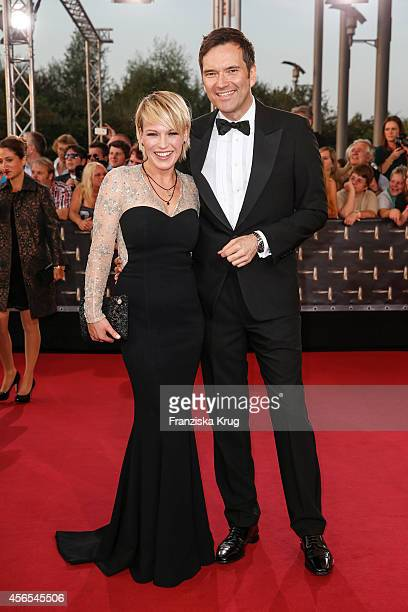 Ingo Nommsen and Andrea Ballschuh attend the red carpet of the Deutscher Fernsehpreis 2014 on October 02 2014 in Cologne Germany