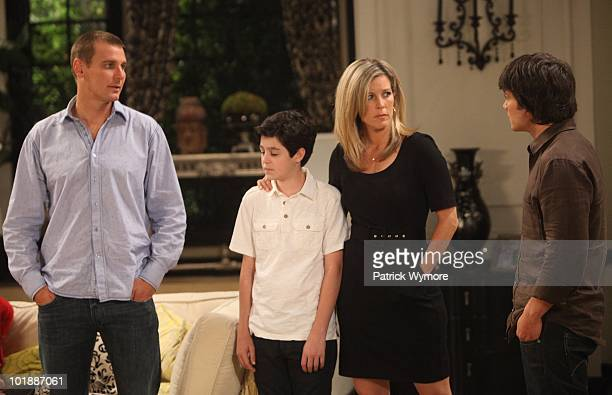 HOSPITAL Ingo Rademacher Aaron Sanders Laura Wright and Dominic Zamprogna in a scene that begins airing the week of June 14 2010 on ABC Daytime's...