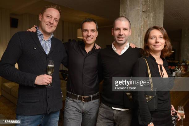 Ingo Sturies Sascha Wolff Raymond Santiago and Marion MeyerArendt attend the launch of the Berlin Lofts by Soho House and the Vinyl Factory on...