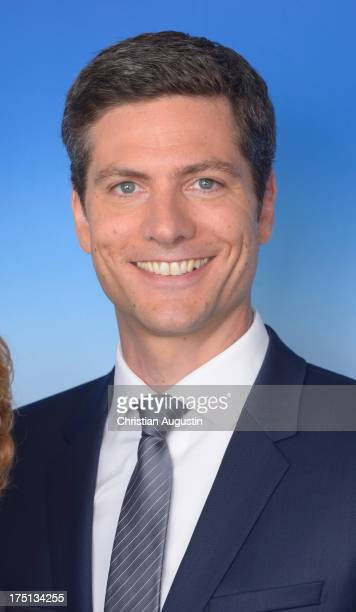 "Ingo Zamperoni attends photocall presents new ""Tagesthemen"" anchorman Thomas Roth at Le Royal Meridien Hamburg on August 1, 2013 in Hamburg, Germany."