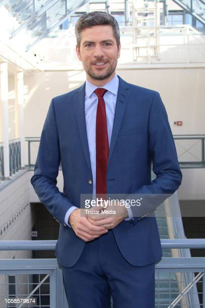 Ingo Zamperoni during a press conference for the new show 'Das soll Recht sein??' on November 7, 2018 in Hamburg, Germany.