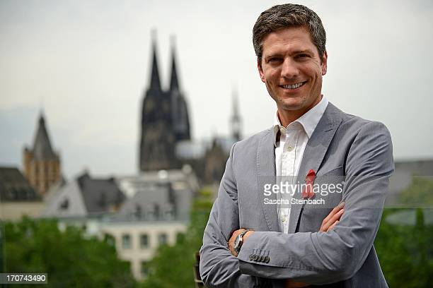 Ingo Zamperoni poses during the Aidshilfe Cologne Photocall at Maritim Hotel on June 17, 2013 in Cologne, Germany. The 22nd Cologne AIDS gala will...