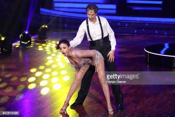 Ingolf Lueck and Ekaterina Leonova perform on stage during the 3rd show of the 11th season of the television competition 'Let's Dance' on April 6...