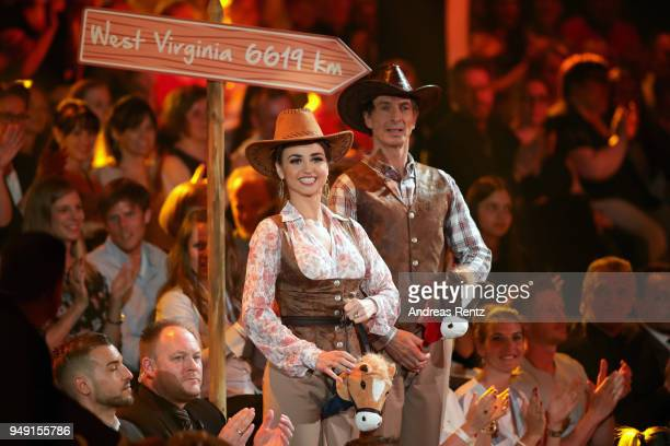 Ingolf Lueck and Ekaterina Leonova perform on stage during the 5th show of the 11th season of the television competition 'Let's Dance' on April 20...