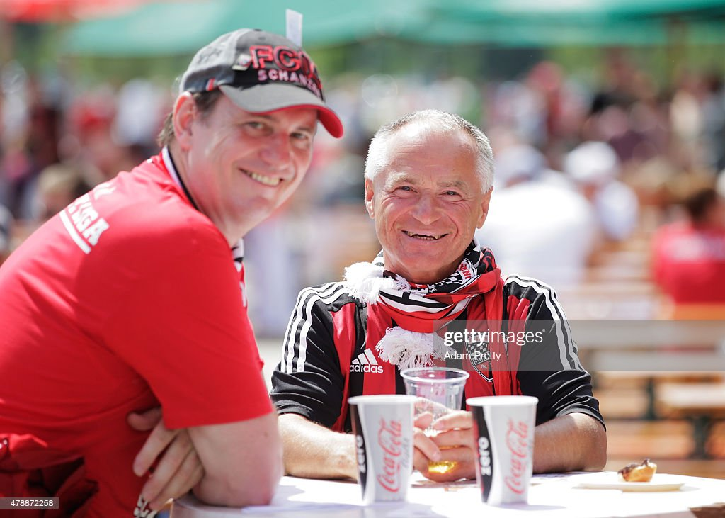 FC Ingolstadt fans enjoy the activities on the first day of training at Audi Sportpark on June 28, 2015 in Ingolstadt, Germany.