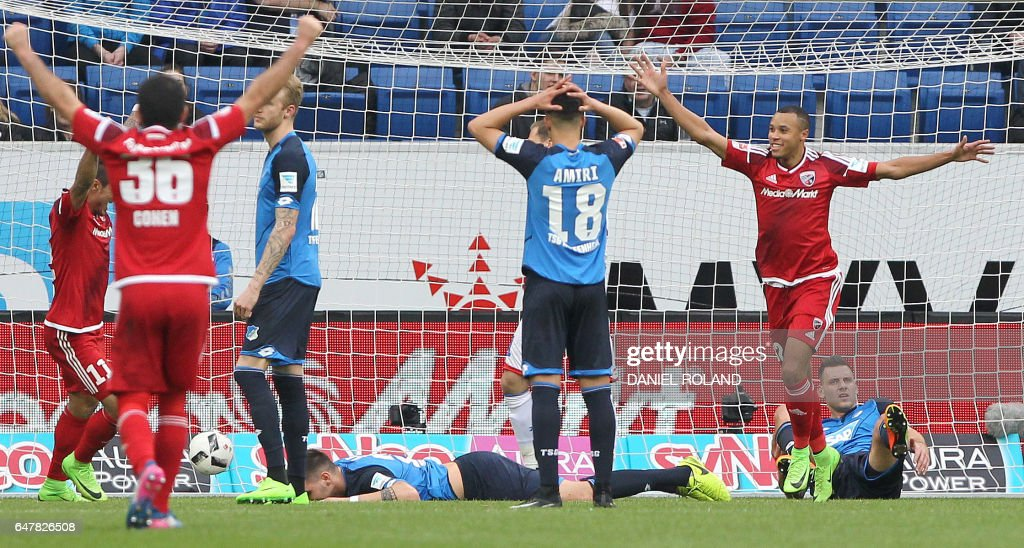 FBL-GER-BUNDESLIGA-HOFFENHEIM-INGOLSTADT : News Photo