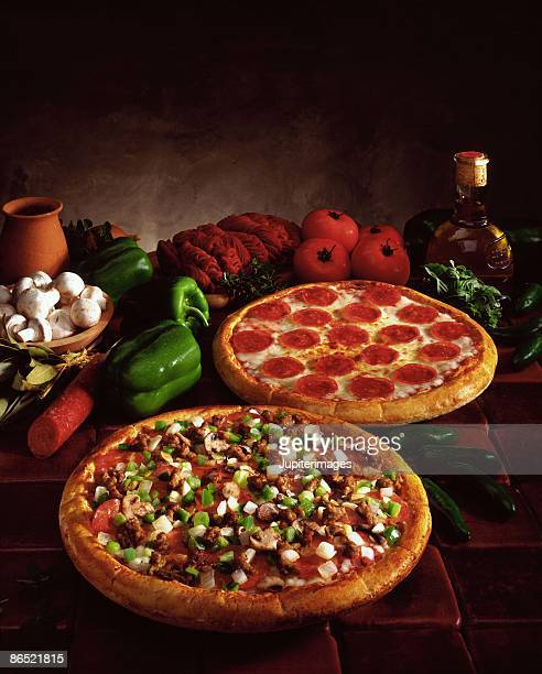Ingredients by pizzas