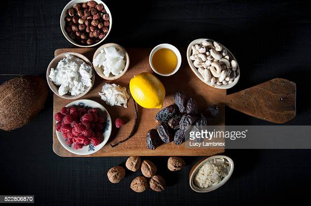 Ingredients for a vegan cashew 'cheesecake'