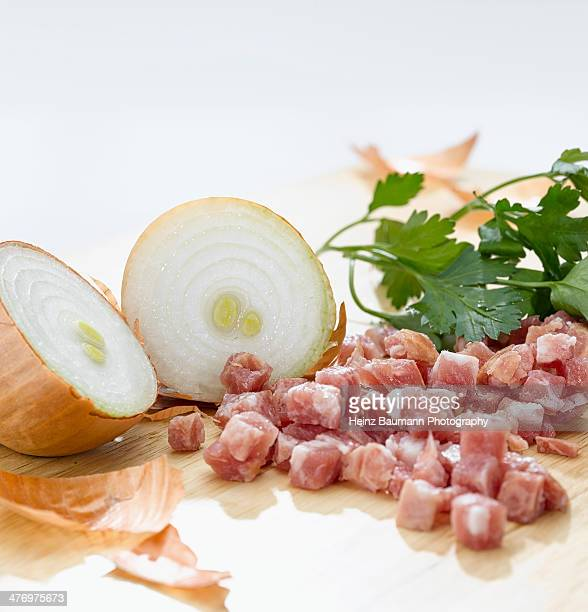 Ingredients for alsatian tarte flambe