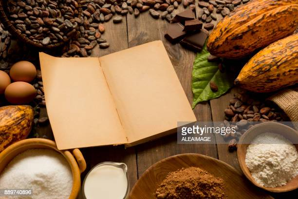 Ingredients for chocolate pastry recipe